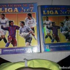 Álbum de fútbol completo: COLECCION DE LAS FICHAS DE LA LIGA 2006-07CON TODOS LOS MESSI. Lote 215817930