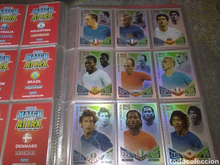 Álbum de fútbol completo: ALBUM TOPPS MATCH ATTAX ( SUDAFRICA 2010 ) ED INGLESA + LEYENDAS ( Messi, Cristiano, Maradona, Pelé - Foto 2 - 217083073