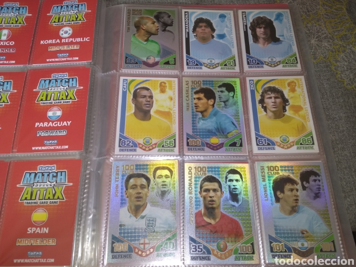 ALBUM TOPPS MATCH ATTAX ( SUDAFRICA 2010 ) ED INGLESA + LEYENDAS ( MESSI, CRISTIANO, MARADONA, PELÉ (Coleccionismo Deportivo - Álbumes y Cromos de Deportes - Álbumes de Fútbol Completos)