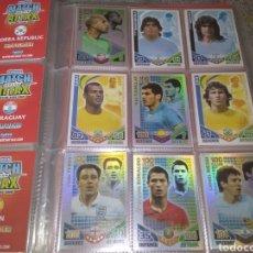 Álbum de fútbol completo: ALBUM TOPPS MATCH ATTAX ( SUDAFRICA 2010 ) ED INGLESA + LEYENDAS ( MESSI, CRISTIANO, MARADONA, PELÉ. Lote 217083073