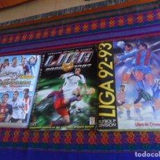 Álbum de fútbol completo: ESTE LIGA 2006 2007 06 07 COMPLETO LIGA 1992 1993 92 93 INCOMPLETO. REGALO ADRENALYN XL 12 13 VACÍO. Lote 217528315