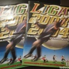 Álbum de fútbol completo: FUTBOL LIGA ESTE 03 04 LAS DOS VERSIONES DEL ALBUM, LEER DESCRIPCION. Lote 217641063