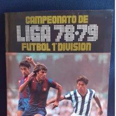 Album de football complet: ALBUM CAMPEONATO DE LIGA 78-79 FUTBOL 1 DIVISION ESTAN COMPLETO .LOS CROMOS ESTAN PEGADO SOLO ARRIBA. Lote 217958702