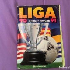 Álbum de fútbol completo: ESTE ÁLBUM 1990 1991 90 91 COMPLETO CON TODO LO EDITADO 432 CROMOS. LEER. Lote 218195852