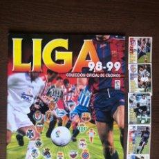 Album de football complet: ALBUM FUTBOL DE LIGA PANINI 98-99 COMPLETO 1998-1999 MUY BUEN ESTADO TODO LO EDITADO MENOS 5 CROMOS. Lote 218509576