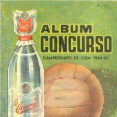Álbum de fútbol completo: FACSIMIL ÁLBUM CONCURSO CROMOS FUTBOL LA CASERA CAMPEONATO LIGA 1964 1965 COMPLETO Y NUEVO. Lote 296838253