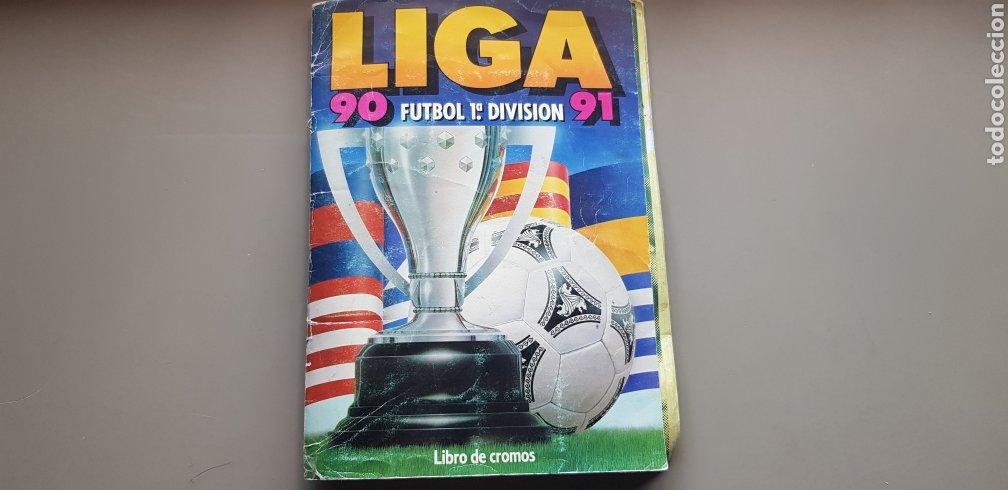 RESERVADO ALBUM LIGA ESTE 90 91 1990 1991 CON MUCHÍSIMOS CROMOS LEER DENTRO (Coleccionismo Deportivo - Álbumes y Cromos de Deportes - Álbumes de Fútbol Completos)