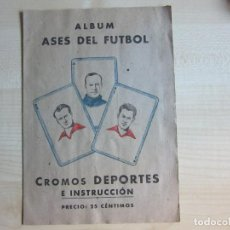 Álbum de fútbol completo: ALBUM ASES DEL FÚTBOL CROMOS DEPORTES E INSTRUCCIÓN EDITORIAL VALENCIANA 1941-42. Lote 220099118