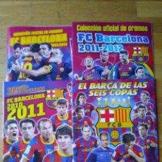 Album de football complet: 4 ALBUMES COMPLETOS COLECCIÓN OFICIAL FC BARCELONA 2009-10, 2010-11, 2011-12, 2012-13 (ENVIO GRATIS). Lote 220104057