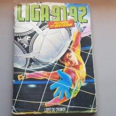 Álbum de fútbol completo: ALBUM COMPLETO LIGA ESTE 91 92 1991 1992 CON MUCHOS COLOCAS E HIGUITA. Lote 181189326