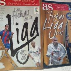 Caderneta de futebol completa: LAS FICHAS DE LA LIGA 2005 Y LAS FICHAS DE LA LIGA 05 06 VERSIONES DIARIO AS. Lote 220622376