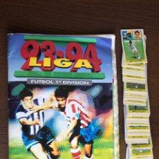 Album de football complet: ALBUM FUTBOL LIGA ESTE 93-94 COMPLETO CROMOS DE CARTON 1993-1994 CON 91 CROMOS EXTRAS SUELTOS. Lote 220753203