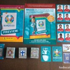 Album de football complet: UEFA EURO 2020 PREVIEW COLECCION COMPLETA 568 CROMOS NUEVOS SIN PEGAR ALBUM PLANCHA Y EXTRAS. Lote 254073420