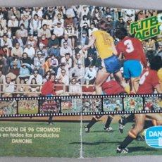 Album de football complet: FUTBOL EN ACCIÓN DANONE ALBUM DE CROMOS COMPLETO. Lote 221314057