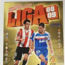 Álbum de fútbol completo: ALBUM DE CROMOS LIGA 2008 2009 COMPLETO SOLO FALTA ALGUNO DE ULTIMOS FICHAJES. Lote 221606911