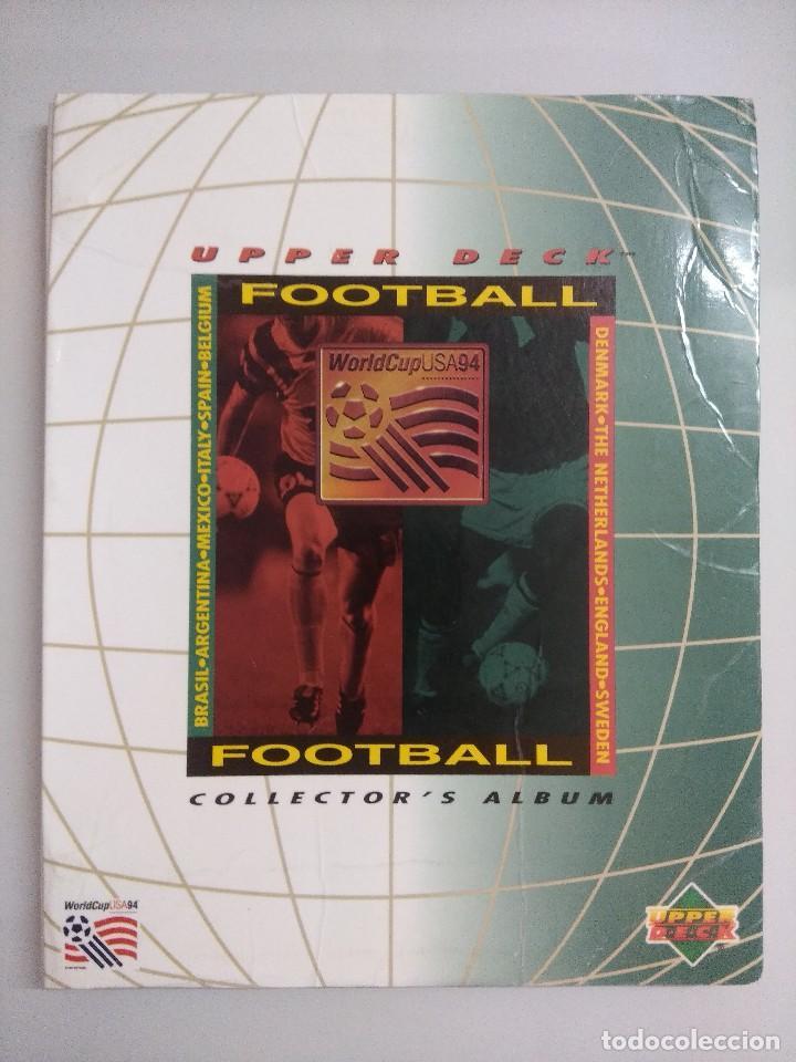 COLECCIÓN UPPER DECK MUNDIAL USA 94/210 FICHAS+ 9 HOLOGRAMAS. (Coleccionismo Deportivo - Álbumes y Cromos de Deportes - Álbumes de Fútbol Completos)
