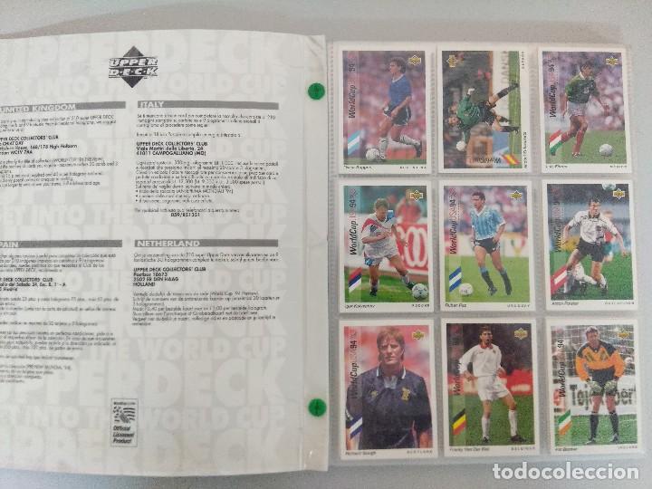Álbum de fútbol completo: COLECCIÓN UPPER DECK MUNDIAL USA 94/210 FICHAS+ 9 HOLOGRAMAS. - Foto 2 - 221755890