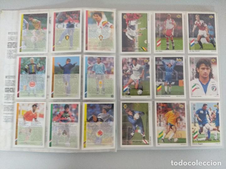 Álbum de fútbol completo: COLECCIÓN UPPER DECK MUNDIAL USA 94/210 FICHAS+ 9 HOLOGRAMAS. - Foto 3 - 221755890
