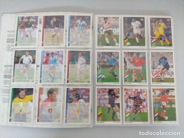 Álbum de fútbol completo: COLECCIÓN UPPER DECK MUNDIAL USA 94/210 FICHAS+ 9 HOLOGRAMAS. - Foto 4 - 221755890