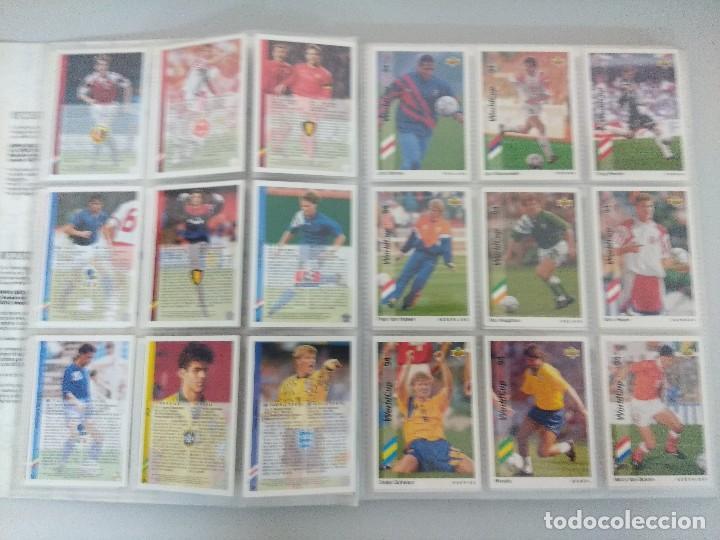 Álbum de fútbol completo: COLECCIÓN UPPER DECK MUNDIAL USA 94/210 FICHAS+ 9 HOLOGRAMAS. - Foto 5 - 221755890