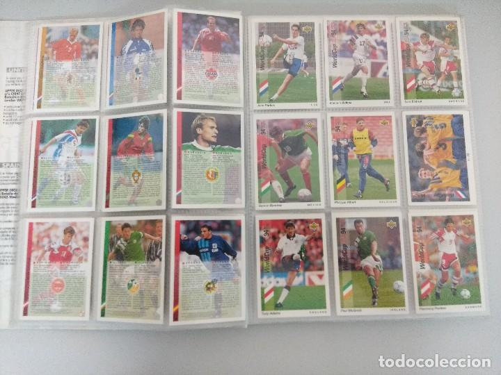Álbum de fútbol completo: COLECCIÓN UPPER DECK MUNDIAL USA 94/210 FICHAS+ 9 HOLOGRAMAS. - Foto 7 - 221755890