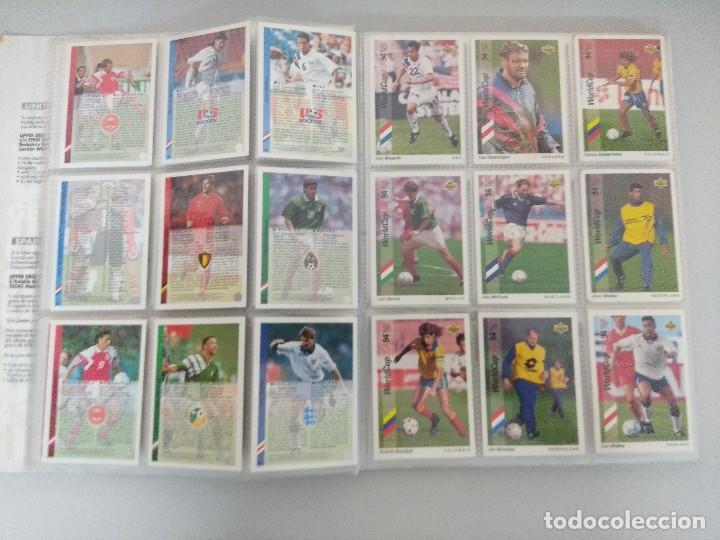 Álbum de fútbol completo: COLECCIÓN UPPER DECK MUNDIAL USA 94/210 FICHAS+ 9 HOLOGRAMAS. - Foto 8 - 221755890