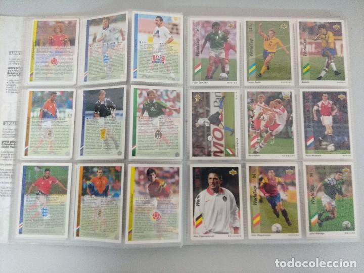 Álbum de fútbol completo: COLECCIÓN UPPER DECK MUNDIAL USA 94/210 FICHAS+ 9 HOLOGRAMAS. - Foto 9 - 221755890