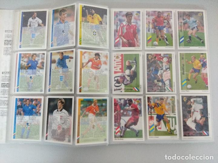 Álbum de fútbol completo: COLECCIÓN UPPER DECK MUNDIAL USA 94/210 FICHAS+ 9 HOLOGRAMAS. - Foto 11 - 221755890