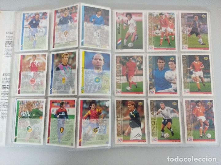 Álbum de fútbol completo: COLECCIÓN UPPER DECK MUNDIAL USA 94/210 FICHAS+ 9 HOLOGRAMAS. - Foto 13 - 221755890