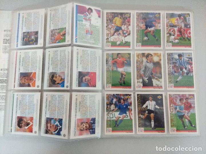 Álbum de fútbol completo: COLECCIÓN UPPER DECK MUNDIAL USA 94/210 FICHAS+ 9 HOLOGRAMAS. - Foto 14 - 221755890
