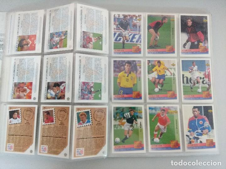 Álbum de fútbol completo: COLECCIÓN UPPER DECK MUNDIAL USA 94/210 FICHAS+ 9 HOLOGRAMAS. - Foto 16 - 221755890