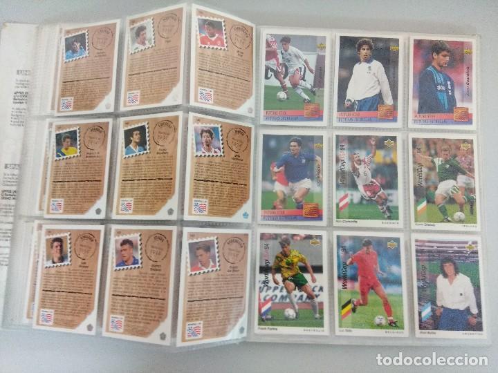 Álbum de fútbol completo: COLECCIÓN UPPER DECK MUNDIAL USA 94/210 FICHAS+ 9 HOLOGRAMAS. - Foto 18 - 221755890