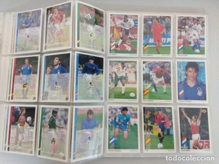 Álbum de fútbol completo: COLECCIÓN UPPER DECK MUNDIAL USA 94/210 FICHAS+ 9 HOLOGRAMAS. - Foto 20 - 221755890