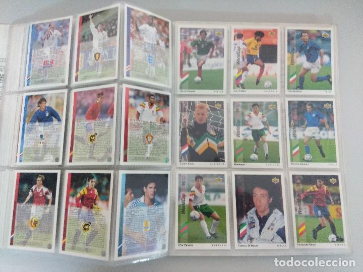 Álbum de fútbol completo: COLECCIÓN UPPER DECK MUNDIAL USA 94/210 FICHAS+ 9 HOLOGRAMAS. - Foto 21 - 221755890