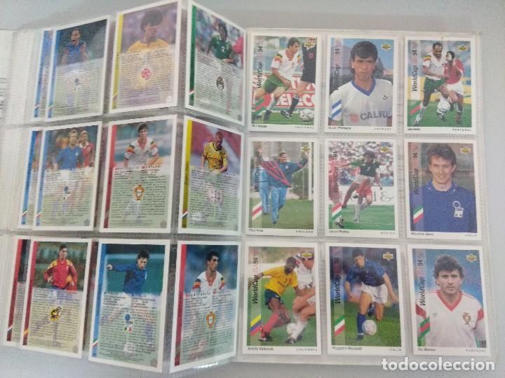 Álbum de fútbol completo: COLECCIÓN UPPER DECK MUNDIAL USA 94/210 FICHAS+ 9 HOLOGRAMAS. - Foto 22 - 221755890