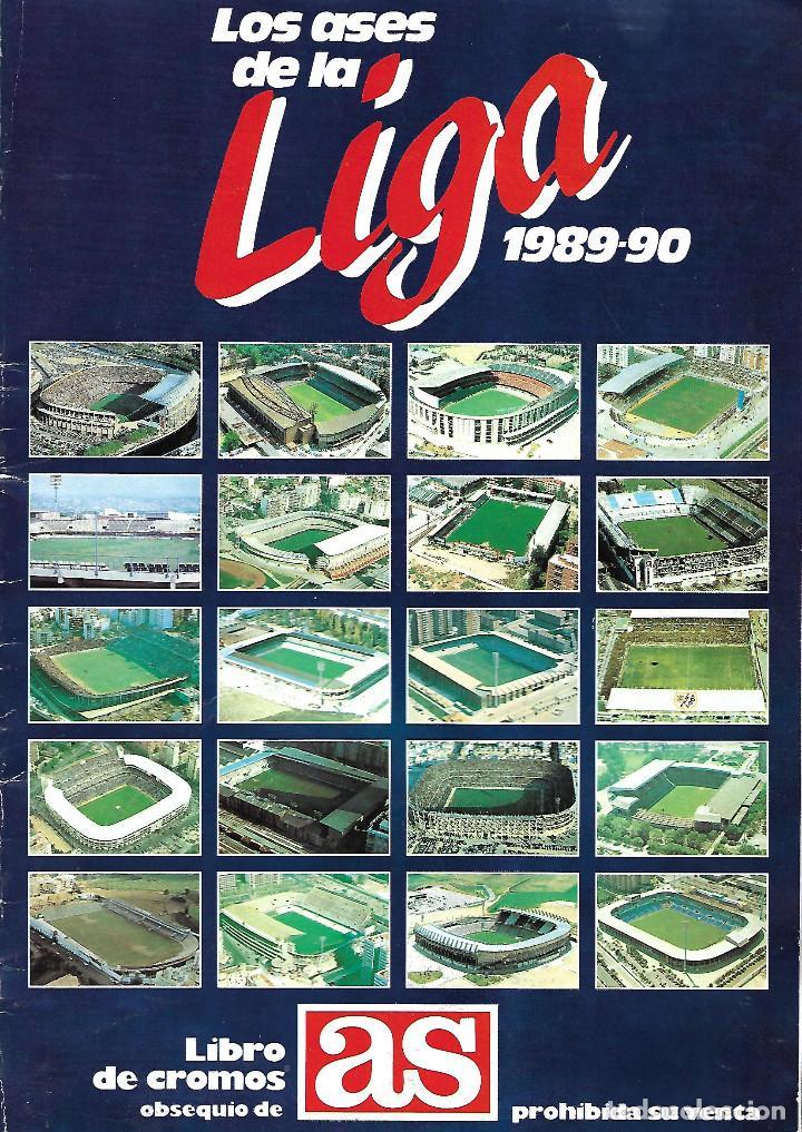 ALBUM COMPLETO LIBRO DE CROMOS DIARIO AS LOS ASES DE LA LIGA 1989/1990 (Coleccionismo Deportivo - Álbumes y Cromos de Deportes - Álbumes de Fútbol Completos)