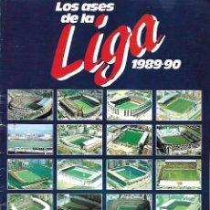Álbum de fútbol completo: ALBUM COMPLETO LIBRO DE CROMOS DIARIO AS LOS ASES DE LA LIGA 1989/1990. Lote 221949932