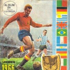 Álbum de fútbol completo: ALBUM CROMOS FACSIMIL LONDRES 1966 CAMPEONATO MUNDIAL FUTBOL CHOCOLATES LA CIBELES NUEVO Y COMPLETO. Lote 221980357