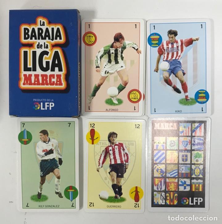 BARAJA DE CARTAS DE LA LIGA MARCA FUTBOL FUTBOLISTAS ATLETICO DE MADRID BETIS DE TIPO ESPAÑOL NAIP (Coleccionismo Deportivo - Álbumes y Cromos de Deportes - Álbumes de Fútbol Completos)