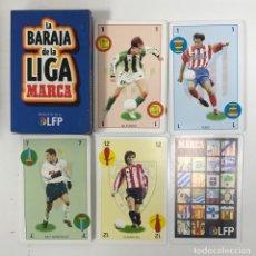 Álbum de fútbol completo: BARAJA DE CARTAS DE LA LIGA MARCA FUTBOL FUTBOLISTAS ATLETICO DE MADRID BETIS DE TIPO ESPAÑOL NAIP. Lote 222022111