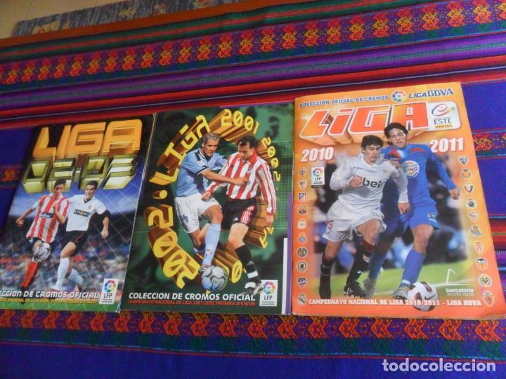 LIGA ESTE 10 11 2010 2011 COMPLETO, 2001 2002 01 02 COMPLETO A FALTA DE FICHAJES. REGALO 2002 2003. (Coleccionismo Deportivo - Álbumes y Cromos de Deportes - Álbumes de Fútbol Completos)