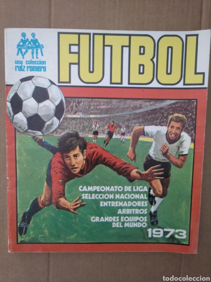 R. ROMERO 1972/73 ALBUM COMPLETO CON CUATRO CROMOS DOBLES Y UN TRIPLE,MUY BUENO. (Coleccionismo Deportivo - Álbumes y Cromos de Deportes - Álbumes de Fútbol Completos)