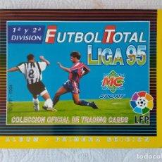 Álbum de fútbol completo: ALBUM COMPLETO FUTBOL TOTAL LIGA 94 95 1994 1995 LFP 1ª Y 2ª DIVISION MUNDICROMO MC TRADING CARDS. Lote 222110332