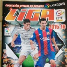 Álbum de fútbol completo: ÁLBUM EDICIONES ESTE 2015-16 - CASI COMPLETO - 15/16 TODO EN EL INTERIOR. Lote 222201470