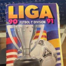 Álbum de fútbol completo: LIGA 90 91 ESTE LLENO TIEN CROMOS DIFICILES TODOS ULTIMOS FICHAJES, MARINA. Lote 222295768