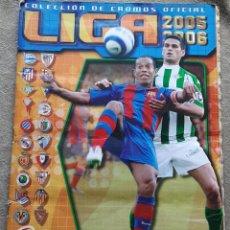 Album de football complet: ALBUM TEMPORADA 2005/2006 - EDICIONES ESTE - COMPLETO A FALTA DE 6 FICHAJES - TIENE 92 CROMOS DOBLES. Lote 222526566