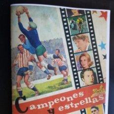 Álbum de fútbol completo: ÁLBUM CROMOS FACSÍMIL CAMPEONES Y ESTRELLAS 100% COMPLETO CHOCOLATES LA CIBELES 1968. Lote 222552757