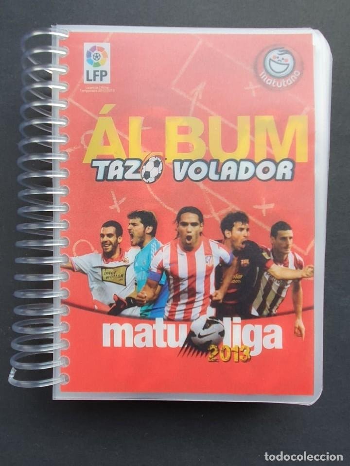 COLECCIÓN COMPLETA TAZOS VOLADORES MATULIGA 2013 CON ÁLBUM INCLUIDO (Coleccionismo Deportivo - Álbumes y Cromos de Deportes - Álbumes de Fútbol Completos)