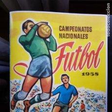Álbum de fútbol completo: ÁLBUM CROMOS NUEVO FACSÍMIL CAMPEONATOS NACIONALES DE FÚTBOL 1958 COMPLETO RUÍZ ROMERO. Lote 223335972