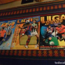 Álbum de fútbol completo: ESTE LIGA 98 99 1998 1999 COMPLETO, ESTE LIGA 05 06 2005 2006 INCOMPLETO. REGALO 09 10 INCOMPLETO.. Lote 223570566